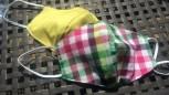 DoggyDolly Mundbedeckung aus Baumwolle - Gesichtsmaske Karos bunt
