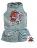 Vorführmodell - DoggyDolly Hundekleid Jeans D213