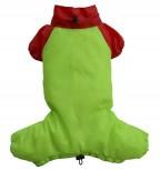 DoggyDolly DR044 Regenanzug für Hunde grün-rot