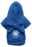 DoggyDolly DRF019 Bademantel für Hunde blau