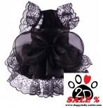 Vorführmodell - DoggyDolly Hunde Abendkleid schwarz F030