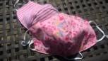 DoggyDolly Mundbedeckung aus Baumwolle - Gesichtsmaske Blumenwiese rosa 2er Set