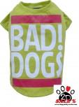 """Vorführmodell - DoggyDolly Hundeshirt """"BAD DOGS"""" grün T537"""