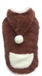 DoggyDolly W213 Hundepullover Teddy braun-weiß