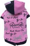 DoggyDolly W242 Kapuzen Pullover für Hunde schwarz-pink