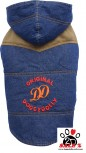 Vorführmodell - DoggyDolly Hundemantel Jeans W312