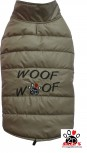 Vorführmodell - DoggyDolly Hundemantel WOOFWOOF cappuccino W379
