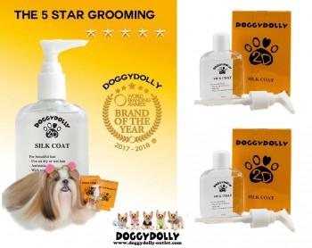 DoggyDolly PS001 Silk Coat Fellpflege für Hunde 2er Set
