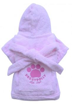 DoggyDolly BIG DOG BD051 Bademantel für große Hunde rosa