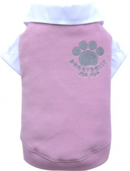 DoggyDolly BIG DOG BD062 Fleecepullover für große Hunde rosa - S