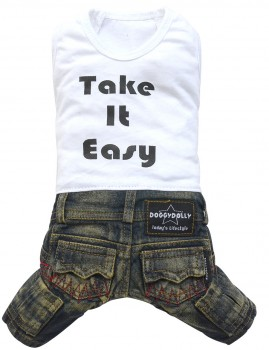 "DoggyDolly C225 Hundekombi Jeans ""Take it easy"""