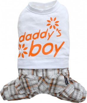 """DoggyDolly C230 Hundekombi """"Daddy´s Boy"""" - weiß - XS"""