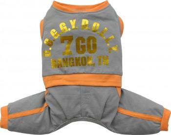 DoggyDolly C279 Jogginganzug für Hunde grau.orange - XXL