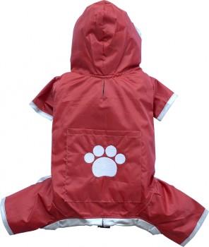 DoggyDolly MINIS&TEACUP DR006 Regenoverall für XXS Hunderassen rot