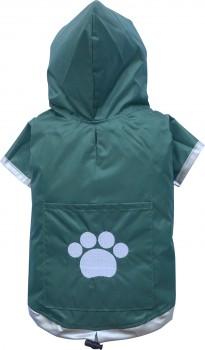 DoggyDolly MINIS&TEACUP DR019 Regenmantel für XXS Hunderassen grün