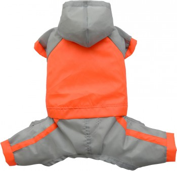DoggyDolly DR041 Regenanzug für Hunde orange-silber