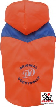 Vorführmodell - DoggyDolly Hunderegenjacke orange-blau DR046 - XXL