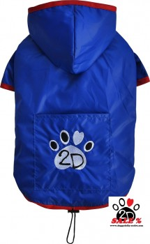 Vorführmodell - DoggyDolly Hunderegenmantel blau DR053 - XS