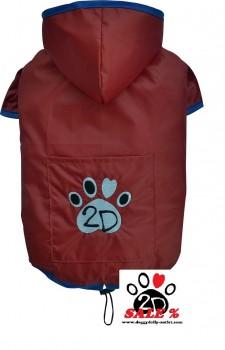Vorführmodell - DoggyDolly Hunderegenmantel rot DR054 - M