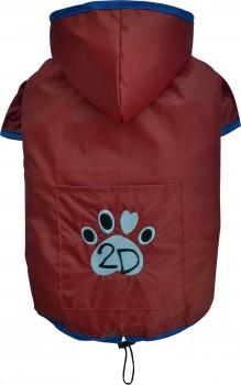 DoggyDolly DR054 Regenmantel für Hunde rot - XXL