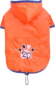 DoggyDolly DR056 Regenmantel für Hunde orange - XXS