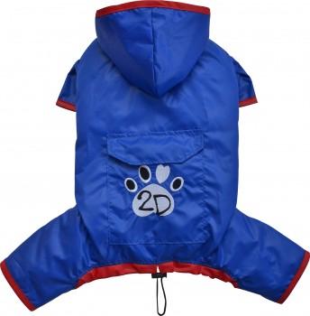 DoggyDolly DR058 Regenoverall für Hunde blau