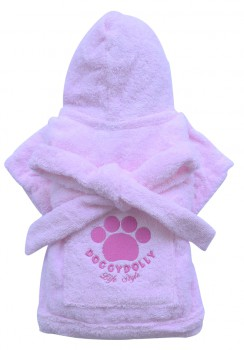 DoggyDolly DRF018 Bademantel für Hunde rosa