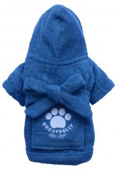 DoggyDolly DRF019 Bademantel für Hunde blau - XXL