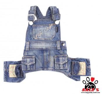 Vorführmodell - DoggyDolly Latzhose jeans DC042 - XXS