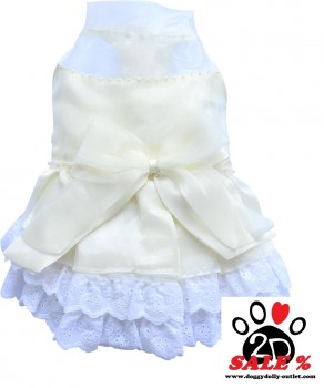 Vorführmodell - DoggyDolly MOPS&CO Hunde Brautkleid creme FP-F025 FP-M
