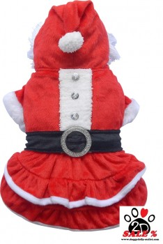 Vorführmodell - DoggyDolly Hundeweihnachtskleid rot-weiß ST002 - XL