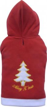 DoggyDolly ST003 Hundepullover Weihnachten Fleece rot-weiß