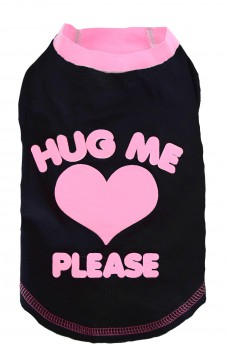 "DoggyDolly T235 Hundeshirt ""HUG ME"" schwarz-pink"