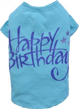 "DoggyDolly T471 Hundeshirt ""Happy Birthday"" blau"