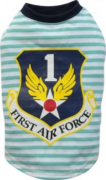 "DoggyDolly T530 Hundeshirt ""Air Force"" türkis-weiß - XS"