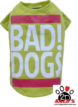 "Vorführmodell - DoggyDolly Hundeshirt ""BAD DOGS"" grün T537 - M"