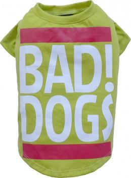 """DoggyDolly T537 Hundeshirt """"BAD DOGS"""" grün"""