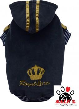 Vorführmodell - DoggyDolly Hundepullover ROYAL DIVAS schwarz-gold W040 -XL