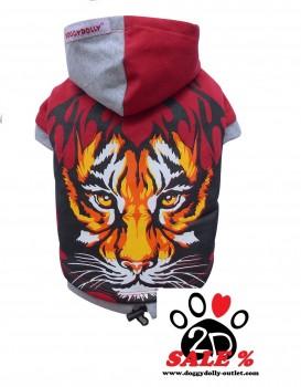 Vorführmodell - DoggyDolly Hundepullover Tiger rot W074 - XXS