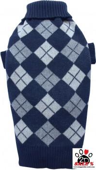 Vorführmodell - DoggyDolly Hundepullover blau kariert W097 - L