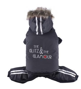 DoggyDolly W099 3 in 1 Schneeanzug für Hunde schwarz
