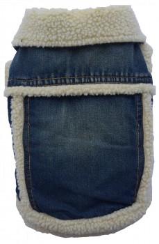 DoggyDolly W120 Winter Hundejacke Jeans blau