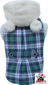 Vorführmodell - DoggyDolly Hundemantel Teddy grün W153 - XL