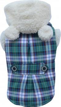 DoggyDolly W153 Teddymantel für Hunde grün