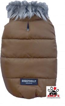 Vorführmodell - DoggyDolly Hundejacke bronze W165