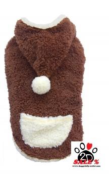 Vorführmodell - DoggyDolly Hundepullover Teddy braun W213 - XS