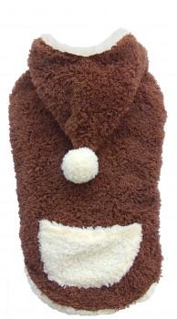 DoggyDolly W213 Hundepullover Teddy braun-weiß - XXS