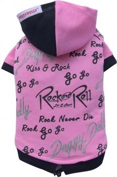 DoggyDolly W242 Kapuzen Pullover für Hunde schwarz-pink -M