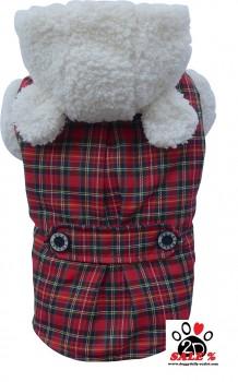 Vorführmodell - DoggyDolly Hundemantel Teddy rot W261 - XXL