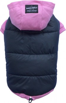 DoggyDolly W262 Parkapullover für Hunde schwarz-pink - M